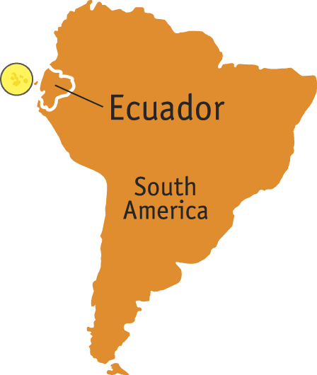 Map of Ecuador