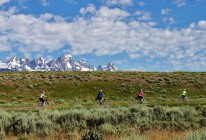 Group biking the Antelope Flats
