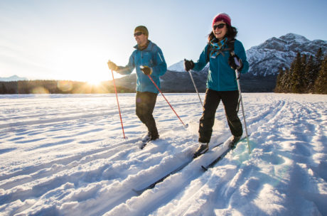 cross country skiing during winter vacation,