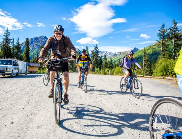 Our biking as part of the best alaska family vacation