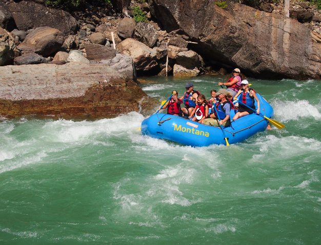 Family Rafting on a Glacier Park Family Vacation