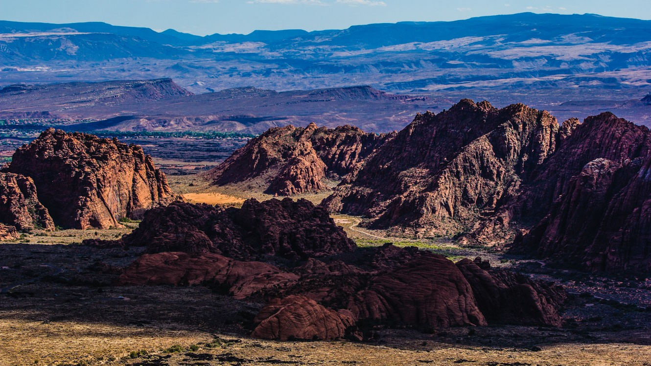 Wide view of rocky Utah landscape