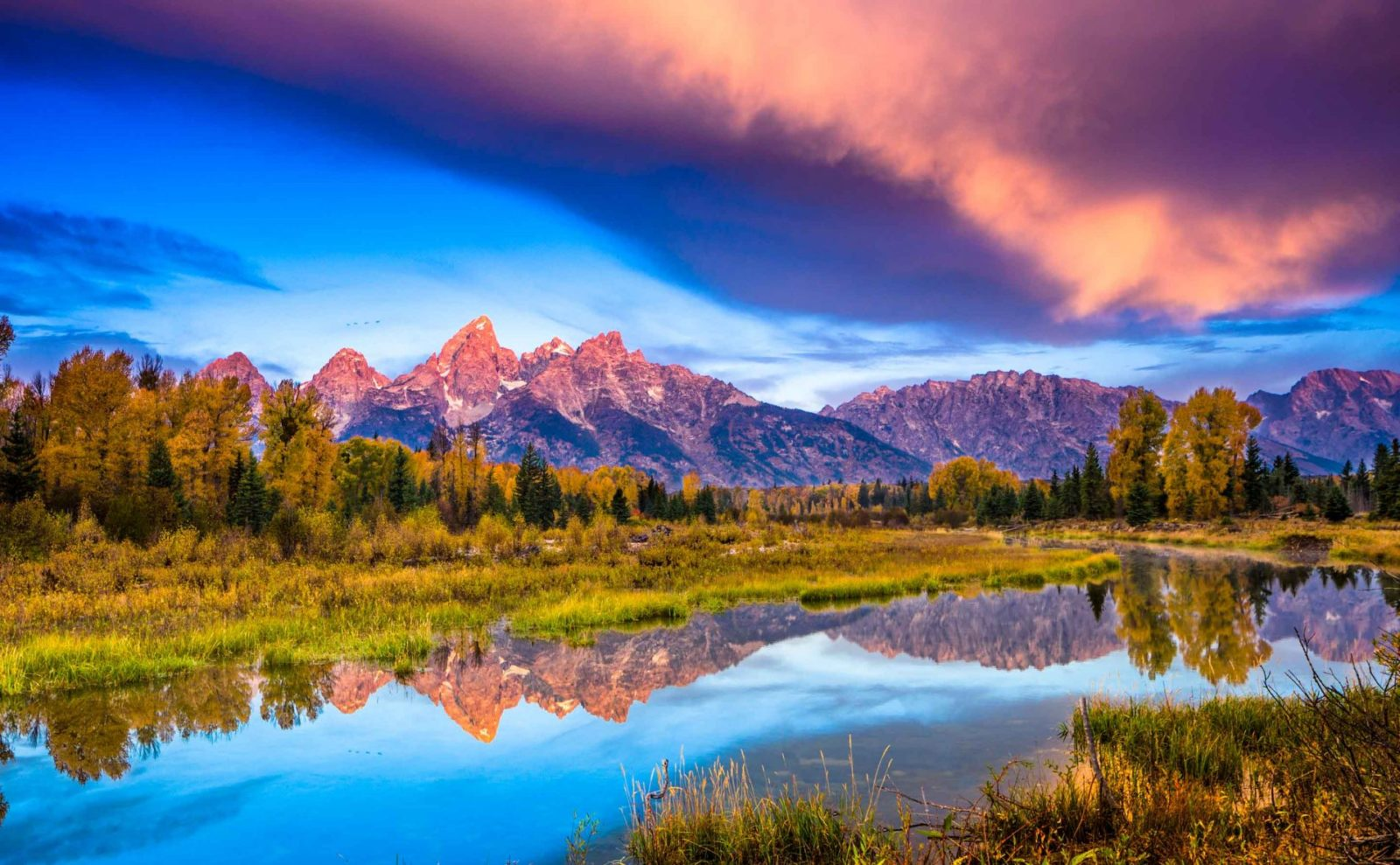 grand teton national park sunset