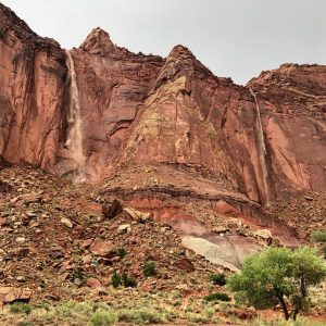 Waterfalls in Capitol Reef, visiting in spring. Photo by NPS.