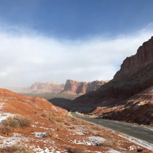 Snowy scenery when visiting capitol reef in the winter. Photo by NPS.