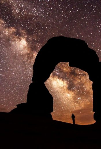 night sky hike Arches
