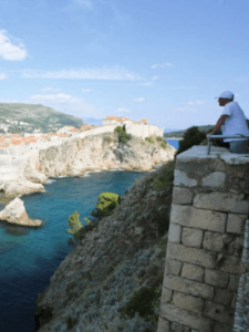 A man on his croatia adult vacation