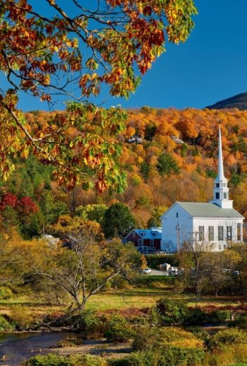 Vermont countryside in the fall